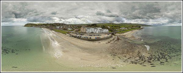 Aerial 360 Panorama Ballygally Castle Co Antrim